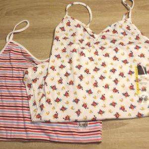 Bundle of 2 NoBo rib camis juniors size L (11-13)